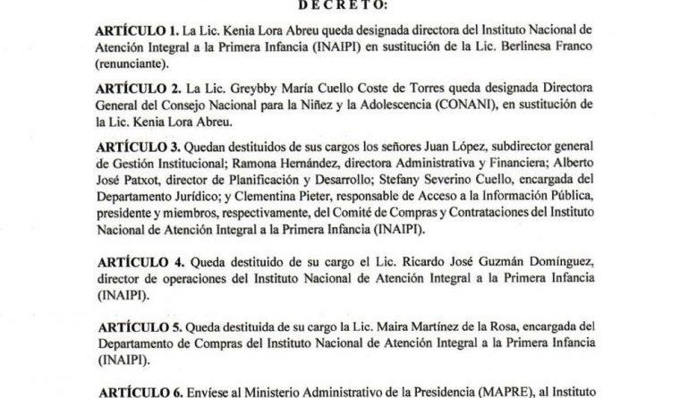 Destituyen a Berlinesa Franco del INAIPI